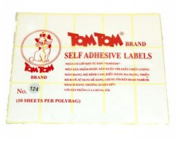 Decal Tommy hộp từ số No.124……No.149