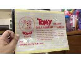 Decal tommy từ số No.99 ….No.123