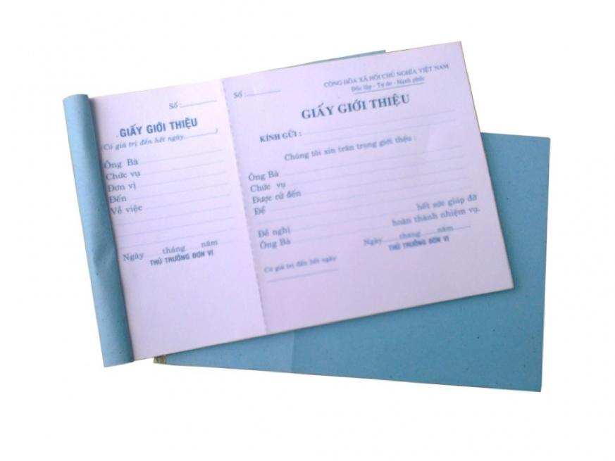 Giấy giới thiệu là loại giấy có ý nghĩa về mặt hành chính