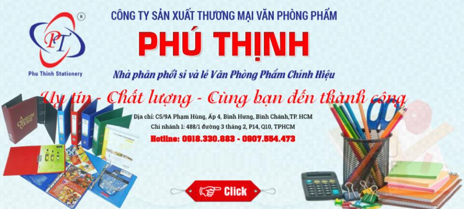 Vpp Phú Thịnh bán văn phòng phẩm online chất lượng uy tín giá rẻ